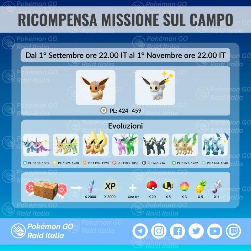 Pokemon Go Ricompense Missioni Campo 1