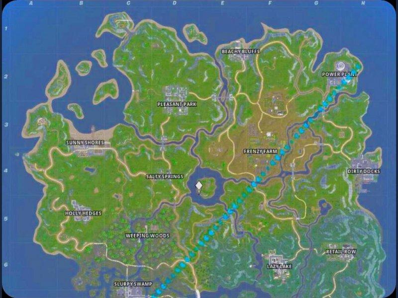 Fortnite Stagione 11 Mappa 1