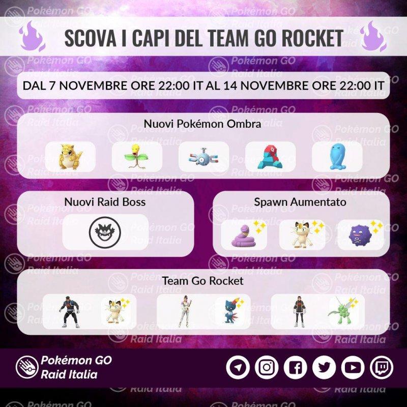 Pokemon Go Scova Capi Team Rocket 1