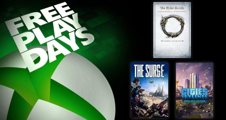 Xbox One: tre giochi gratis per questo fine settimana nell'iniziativa Free Play Days - Multiplayer.it
