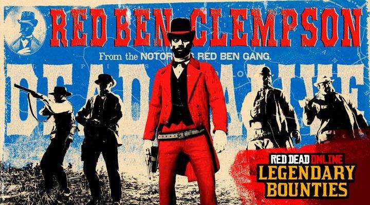 Red Dead Online, arriva lo spietato Red Ben Clempson come taglia leggendaria e altre novità