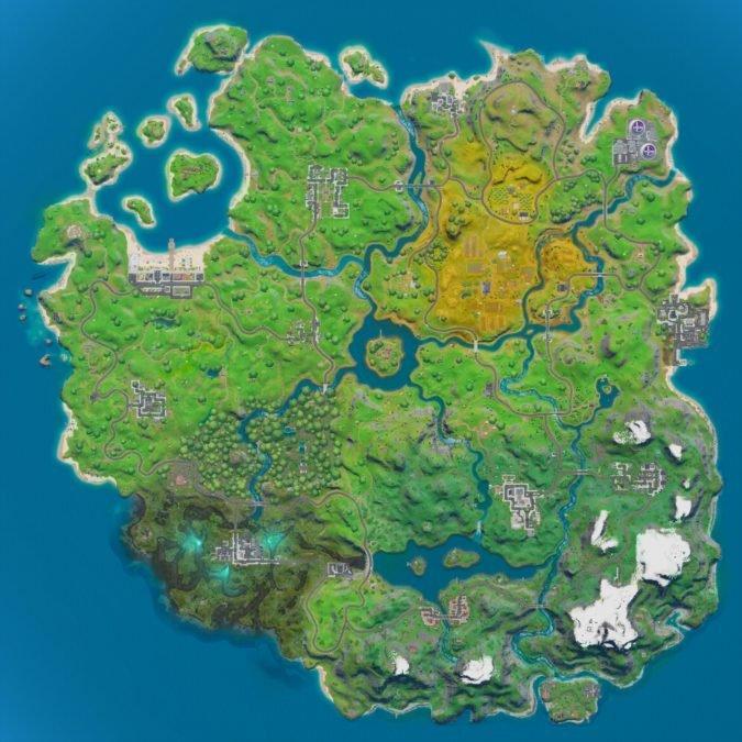 Fortnite Mappa Luoghi Nomi 1