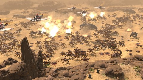 Starship Troopers - Terran Command, gameplay trailer of the ambush in the Canyon