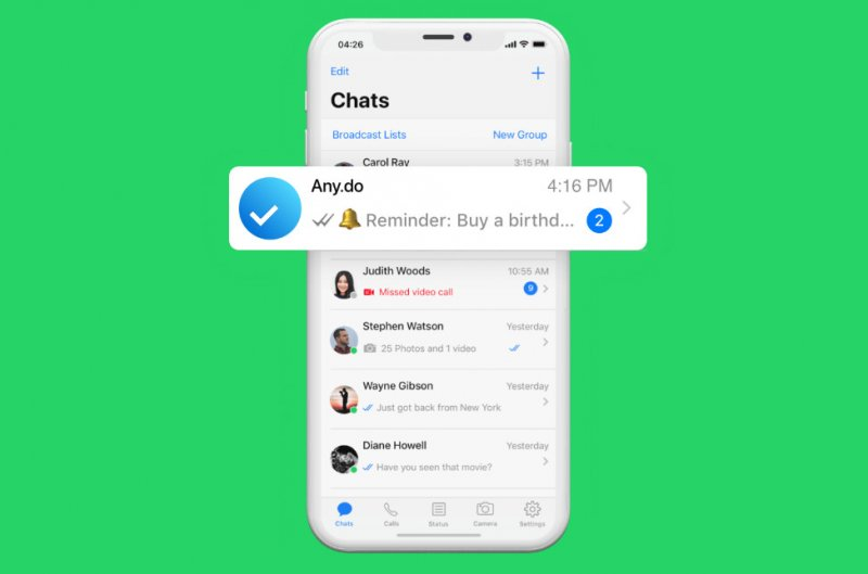 Whatsapp Anydo Support