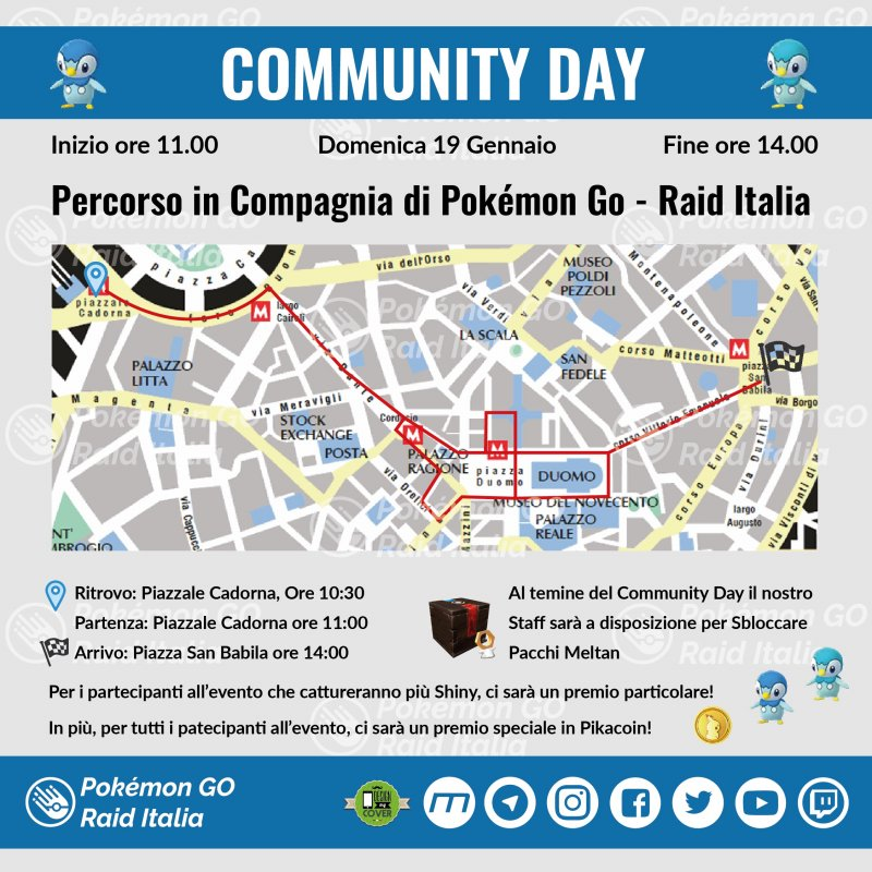 Mappa Community Day  Milano Piplup 01