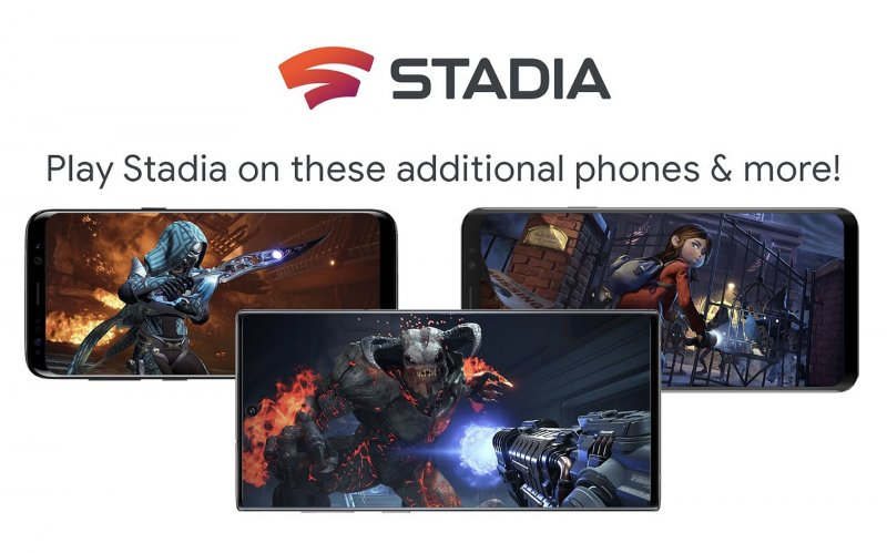 Stadia Android Phones