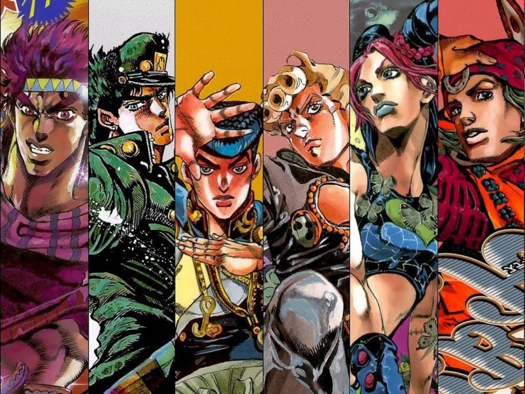 One Piece meets JoJo's Bizarre Adventure in this very funny picture