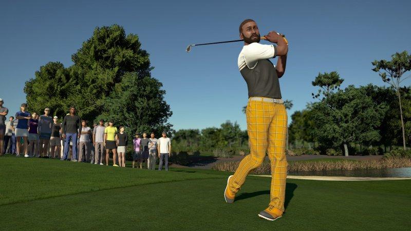 PGA Tour 2K21, swing bem executado
