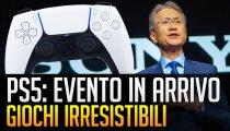 """PS5: presentazione in arrivo con giochi """"irresistibili"""""""
