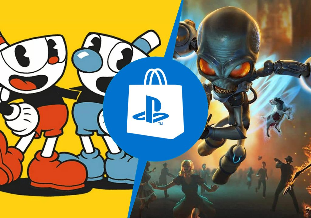 PlayStation Store: Cuphead and Destroy All Humans!