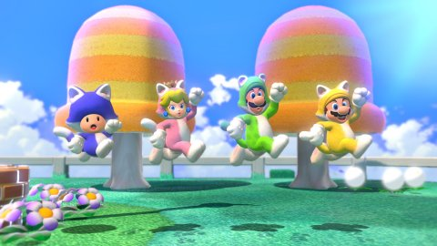 Super Mario 3D World + Bowser's Fury: Power-ups and multiplayer players