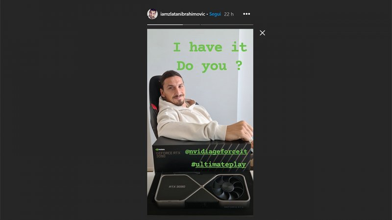 Zlatan Ibrahimovic Ha Una Nvidia Rtx 3090 E La Esibisce Su Instagram Multiplayer It