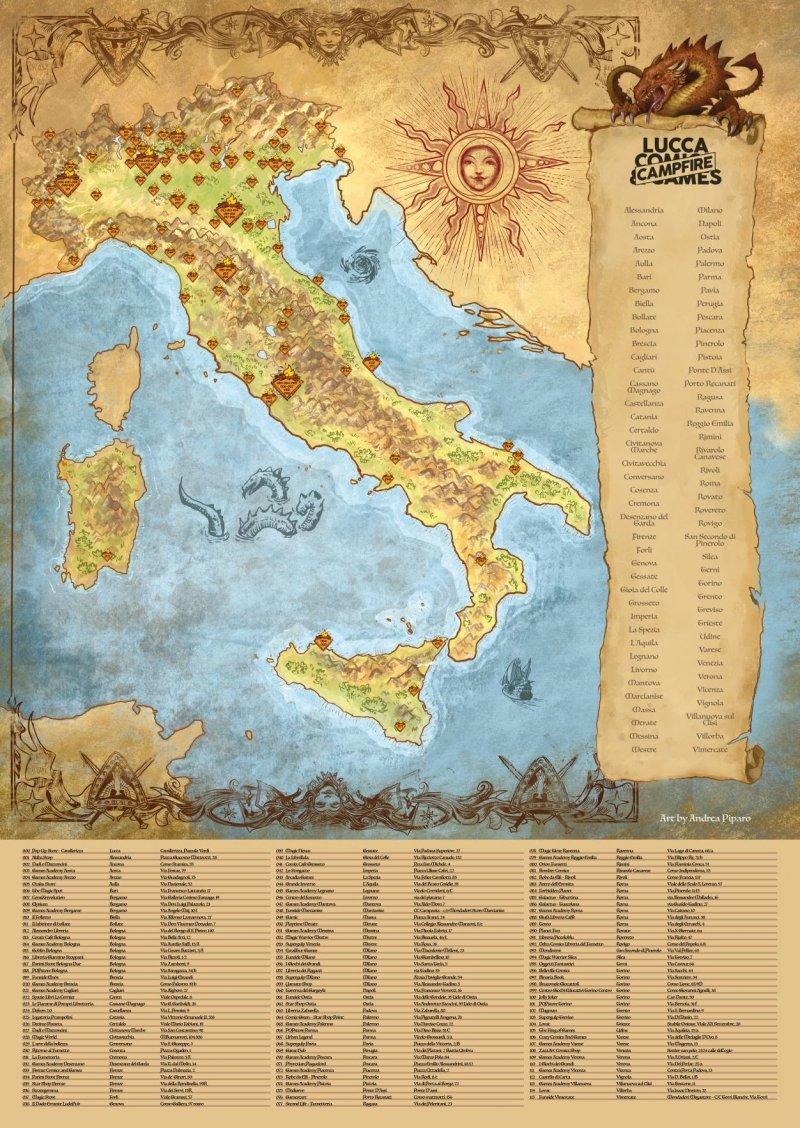 Lucca Comics & Games 2020: ecco la mappa di tutti i campfire d'Italia -  Multiplayer.it