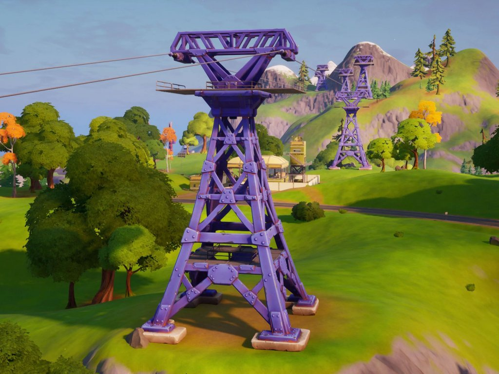 Fortnite, uses a Zipline from Corso Commercio to Foschi Fumaioli