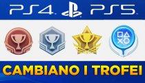 Trofei PS5: cambia tutto! Aggiornamento a livelli, icone e calcolo punteggi