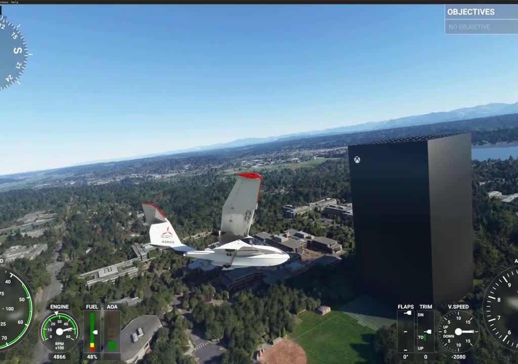 Microsoft Flight Simulator: Xbox Series X stands tall in Microsoft's headquarters