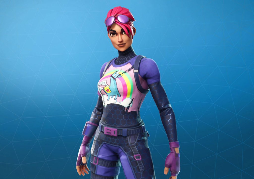 Fortnite, a very colorful and faithful Brite Bomber in the cosplay of Alicia Marie