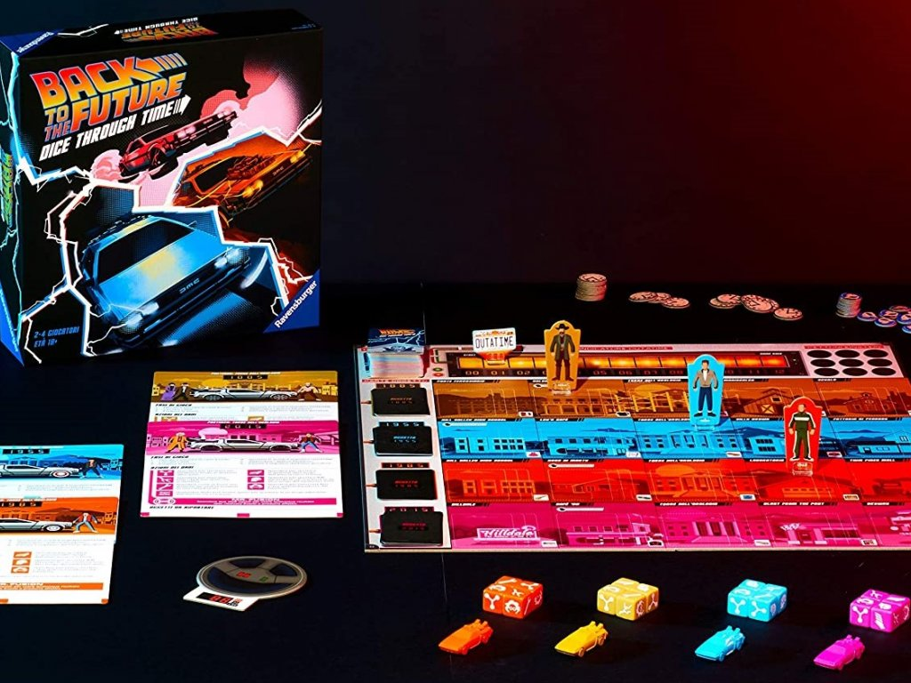 Back to the Future: Dice Through Time, the board game from Back to the Future