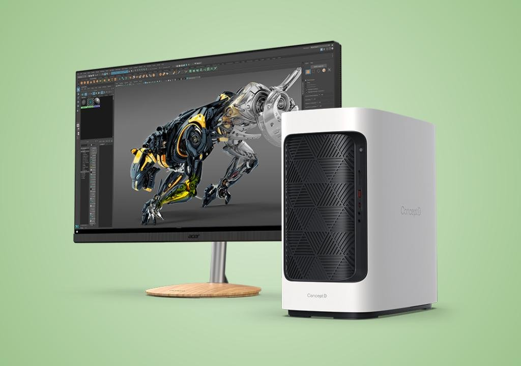 Acer: new monitors, pre-assembled and portable