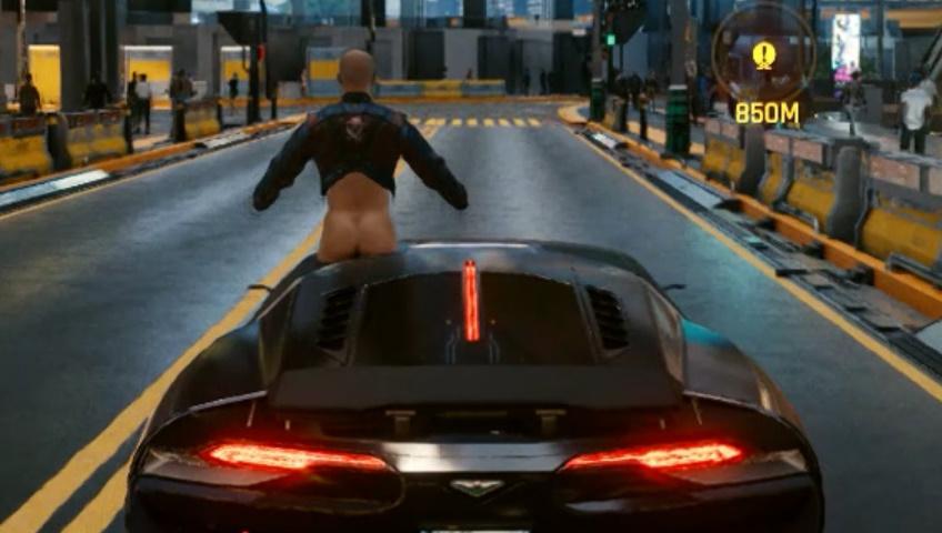 Cyberpunk 2077: a bug turns car racing into a Boldi and De Sica movie