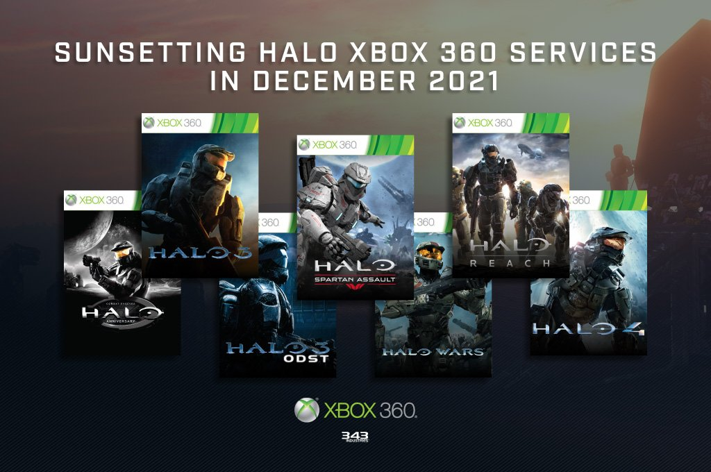 Halo: Online support for Xbox 360 chapters will be closed in 2021
