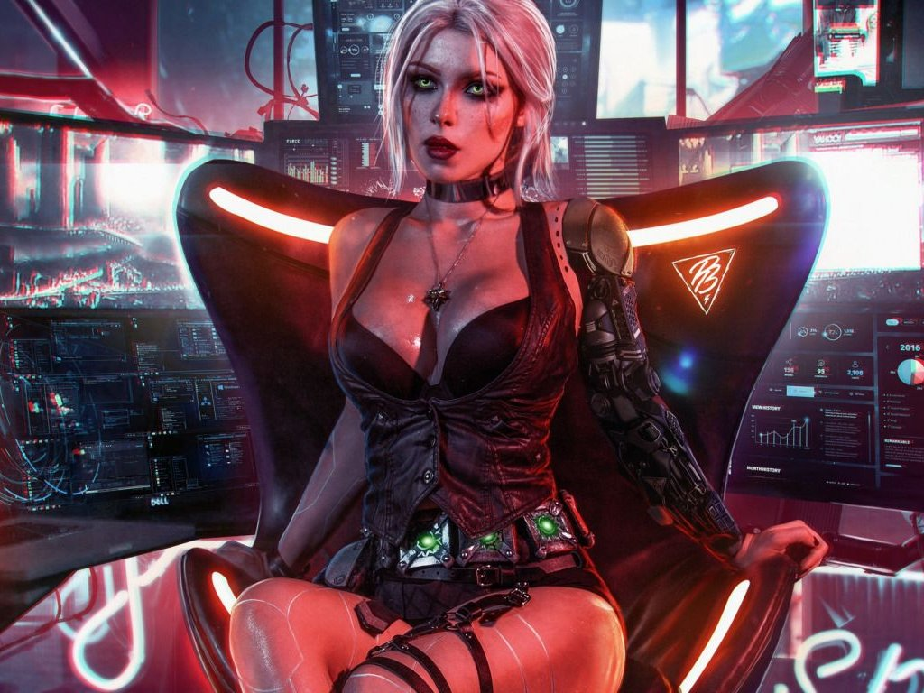 Cyberpunk 2077, Ciri is featured in Mia Malkova's sexy cosplay
