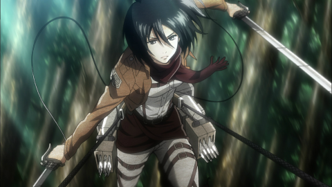 Attack of the Giants, Mikasa cosplay by Helly Valentine