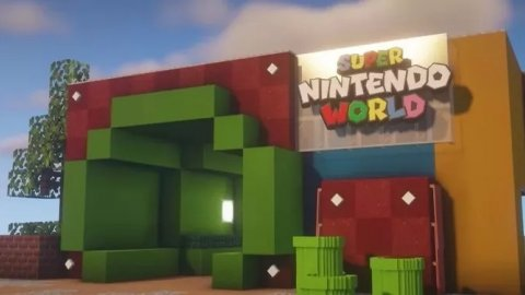 Minecraft: Super Nintendo World recreated in the Mojang game, waiting for the real one