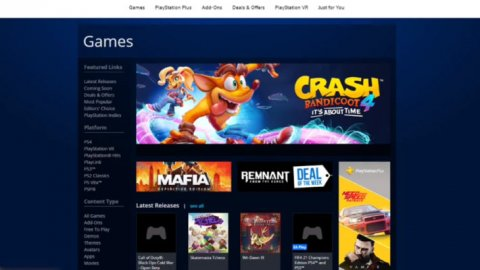 PlayStation Store: The old site is still available with all PSP, PS Vita and PS3 games