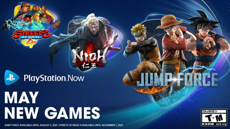 PS Now's May 2021 games
