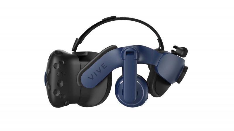 HTC Vive Pro 2 integra-se com um sistema de som 3D, mas é compatível com outros fones de ouvido