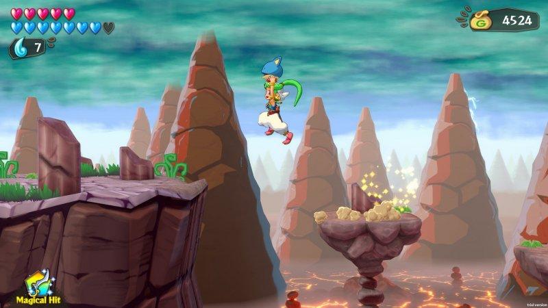 Wonder Boy: Asha in Monster World, uno dei primissimi stage.