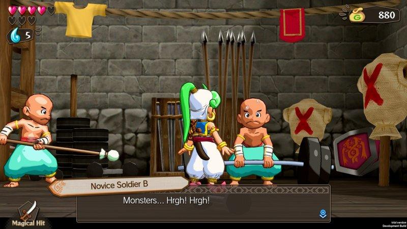 Wonder Boy: Asha in Monster World, l'armeria nel castello di Rapadagna.
