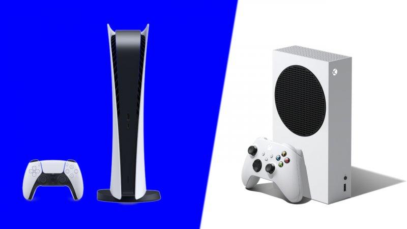 Playstation 5 na versão Digital e Xbox Series S.