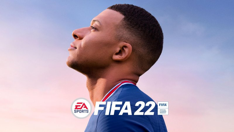 FIFA 22, Kylian Mbappé em arte oficial.