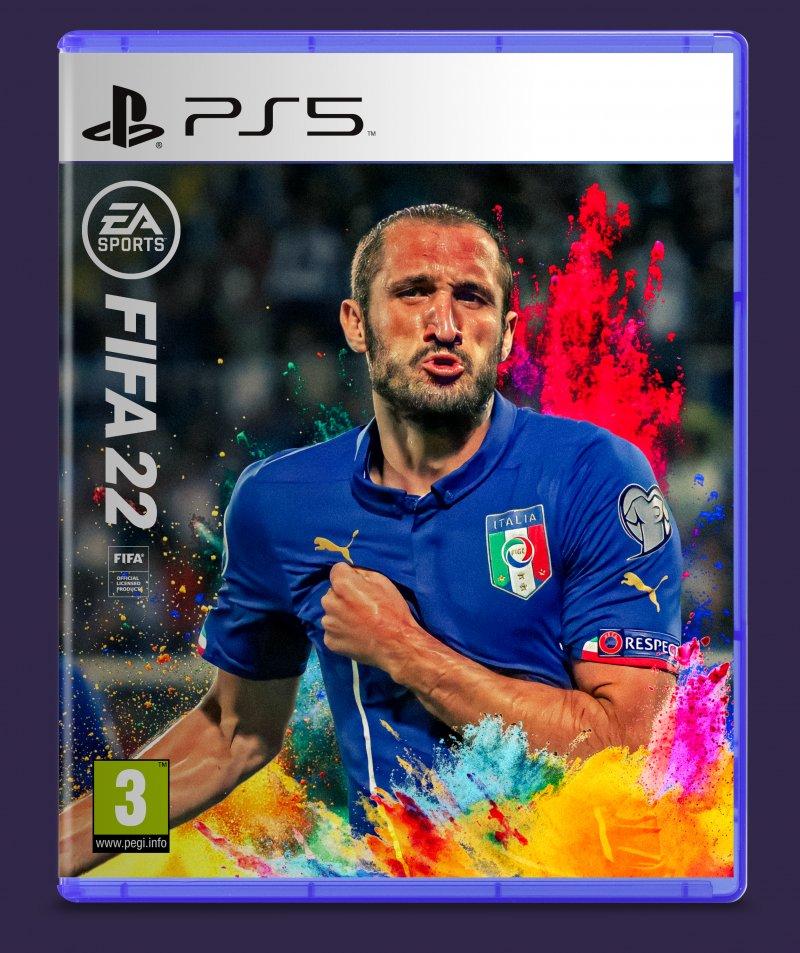 Una portada más atrevida, donde se puede ver a Giorgio Chiellini animando tras un gol con una camiseta azul