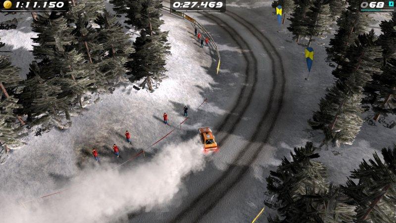 Aparentemente, o Rush Rally Origins oferece uma variedade clássica de superfícies de estrada