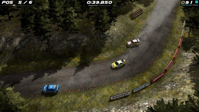Com uma vista isométrica, as origens do Rush Rally nos lembram alguns clássicos do passado como Neo Drift Out