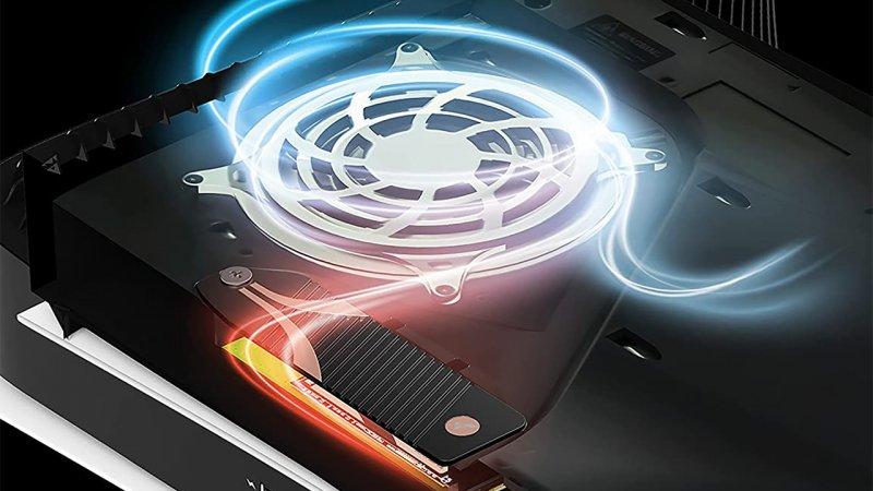PS5, Sabrent heatsink and air circulation