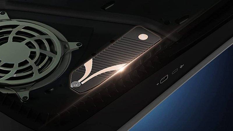 PS5, Sabrent heatsink that replaces extra SSD door