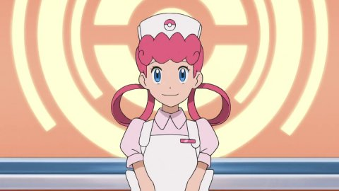 Pokémon, the cosplay of Nurse Joy from Panterona is macabre and deviant
